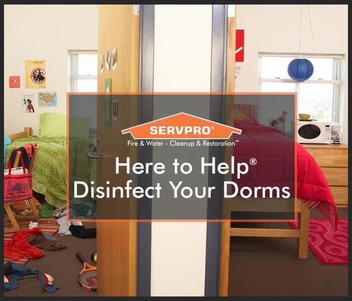 Dorms with SERVPRO logo