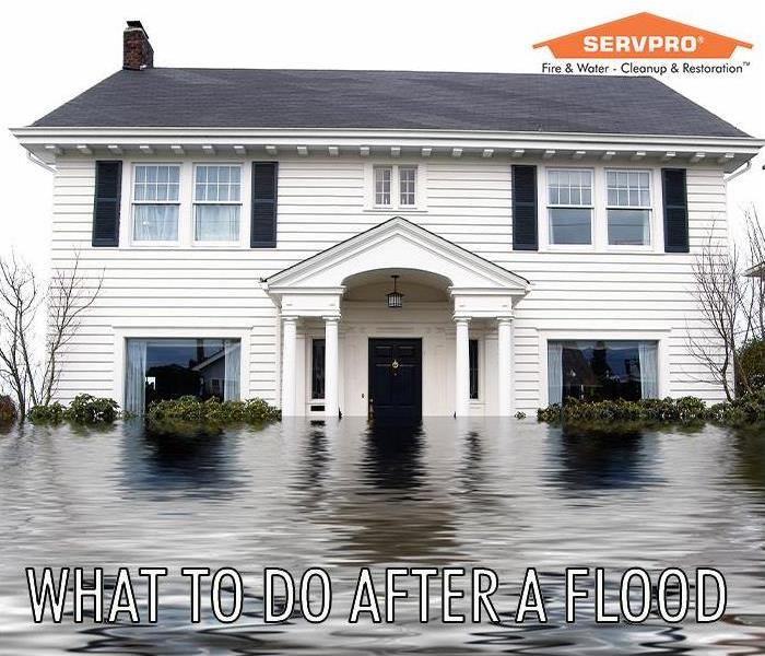 Flooded home with SERVPRO logo
